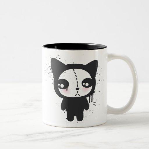 Tasse grunge mignonne de chaton