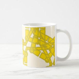 Tasse jaune de motif
