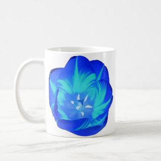 Tasse lumineuse de tulipe bleue