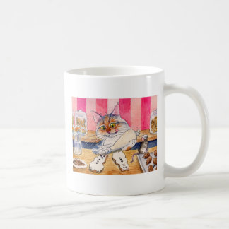 Tasse mignonne de boulangerie de chat