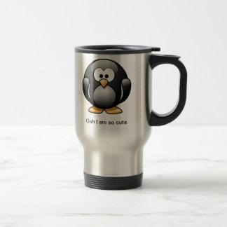 Tasse mignonne de voyage de pingouin