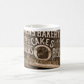 Tasse vintage d'annonce de boulangerie