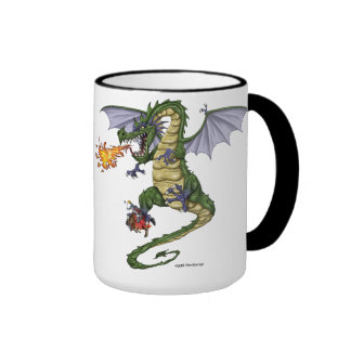 Tasses de café de dragon et Steins de bière