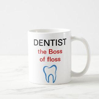Tasses de café de thème de dentiste