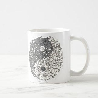 Tasses de café de zen de Yin Yang de chiens et de