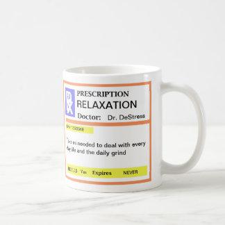 Tasses de café drôles de prescription