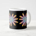 Tasses mignonnes de fleur de bruit mugs extra larges