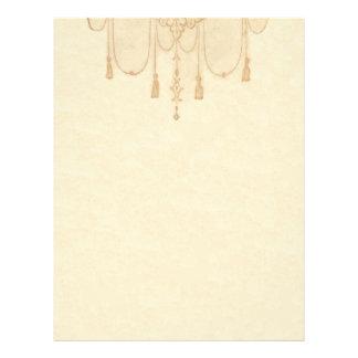 Tassles in Gold Stationery Letterhead Template