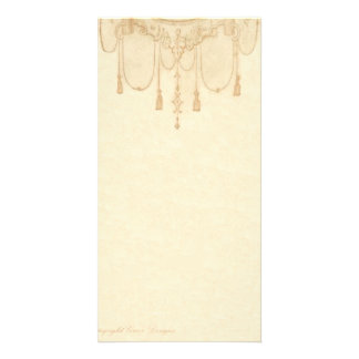 Tassles in Gold Stationery Personalized Photo Card