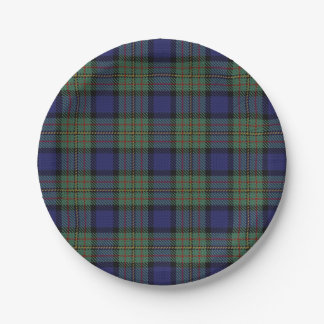 Taste of Scotland Clan MacLaren Tartan Plaid 7 Inch Paper Plate