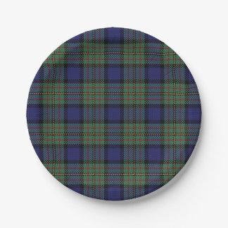Taste of Scotland Clan MacLaren Tartan Plaid Paper Plate