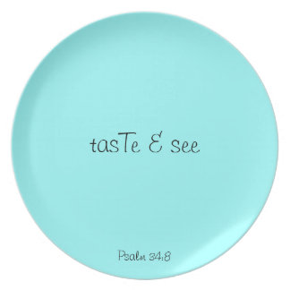 tasTe & see - sky blue plate