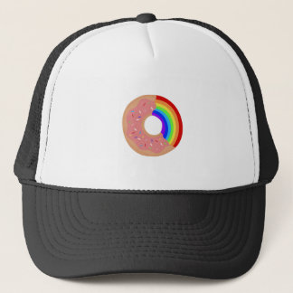 Taste the Rainbow Donut Trucker Hat