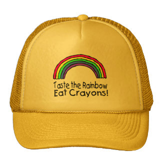 Taste The Rainbow Eat Crayons Trucker Hat