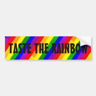 Taste the Rainbow LGBT Bumper Sticker