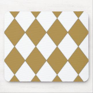 Tasteful-Taupe--Diamond's-Harlequin-Unisex Mouse Pad