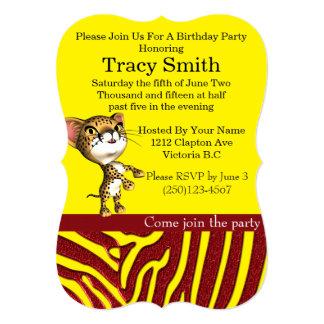 Tastefully Party Cheetha Birthday Invitation 7