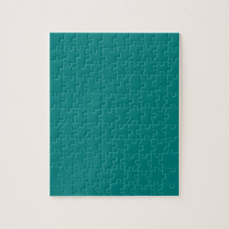 Tastefully Sophisticated Teal Color Jigsaw Puzzle