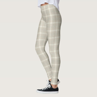 Tastefully Taupe Tartan/Plaid Pattern Leggings