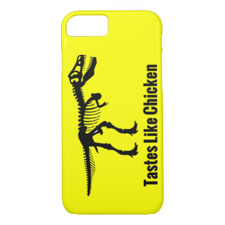 Tastes Like Chicken - Dinosaur iPhone Case