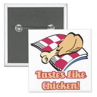 tastes like chicken pinback button