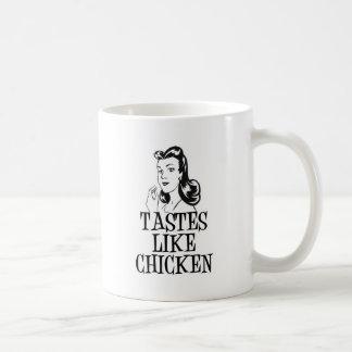 Tastes Like Chicken Retro Lady Mug