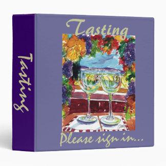 Tasting binder