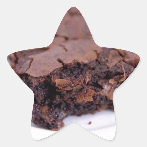 Tasty Brownie Star Stickers
