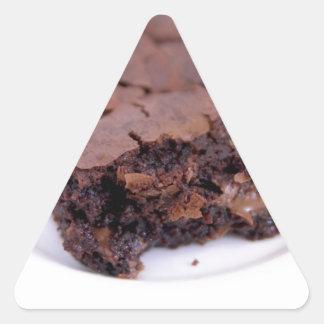 Tasty Brownie Triangle Sticker
