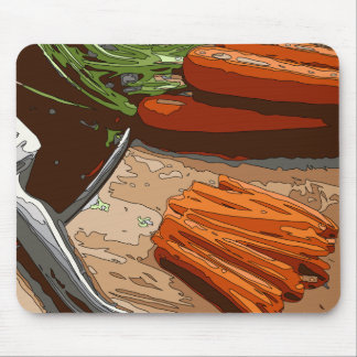 Tasty Carrots Onions and Celery Chopped Up Mousepads