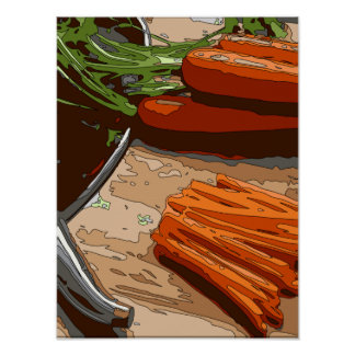 Tasty Carrots Onions and Celery Chopped Up Posters