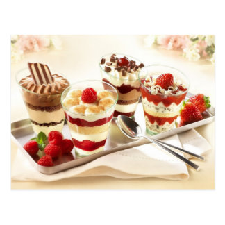 Tasty Dessert Parfaits Postcard