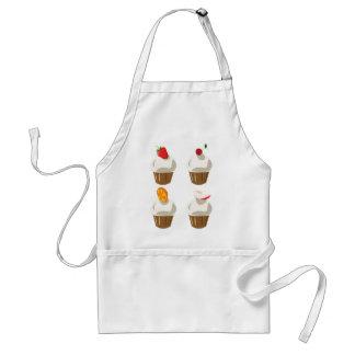 Tasty fruit cupcakes standard apron