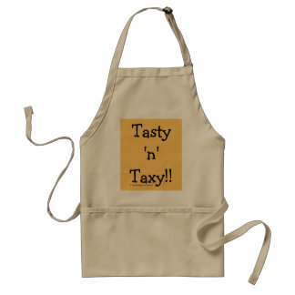 Tasty 'n' Taxy! Tax Words Slogan Standard Apron
