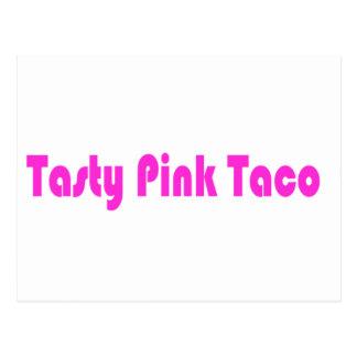 Tasty Pink Taco Postcard