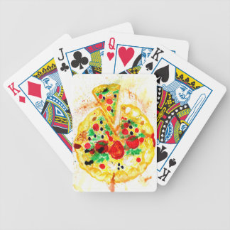 Tasty Pizza Bicycle Playing Cards