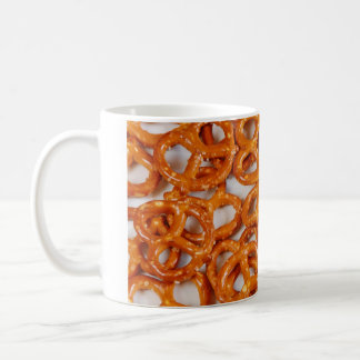 Tasty pretzel snack coffee mug