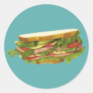 Tasty Sandwich Classic Round Sticker