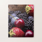 Tasty Summer Fruits On A Wooden Table Jigsaw Puzzle