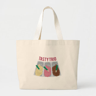 Tasty Trio Large Tote Bag
