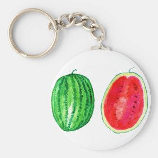 Tasty Watermelon Art Basic Round Button Keychain