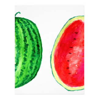 Tasty Watermelon Art Letterhead Template