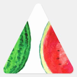 Tasty Watermelon Art Triangle Sticker