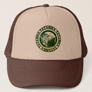 Tatanka -American Buffalo/Bison Green Leaf Trucker Hat