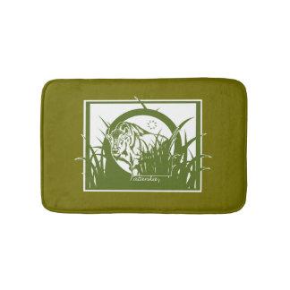 Tatanka (Buffalo) Green & White Bath Mat