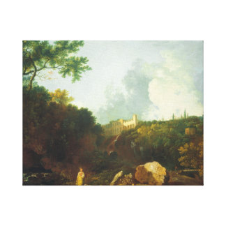 Tate distant view of maecenas villa tivoli canvas print