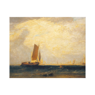 Tate fishing upon the blythe sand tide setting canvas print