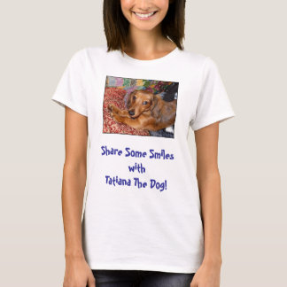 Tatiana The Dog Smiles Fitted Women's T T-Shirt