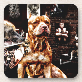 Tatoo dog coaster