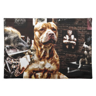 Tatoo dog placemat